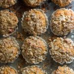 Crunchy pecans and a crumb topping make these pumpkin muffins irresistible
