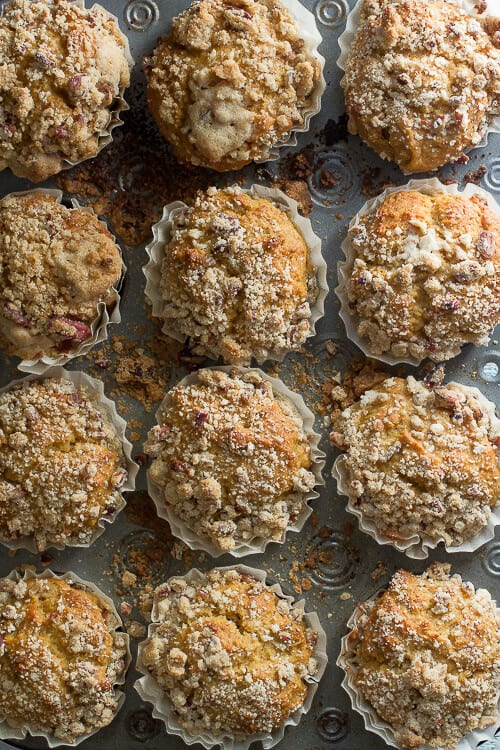 Simple Pumpkin Muffins with Pecans