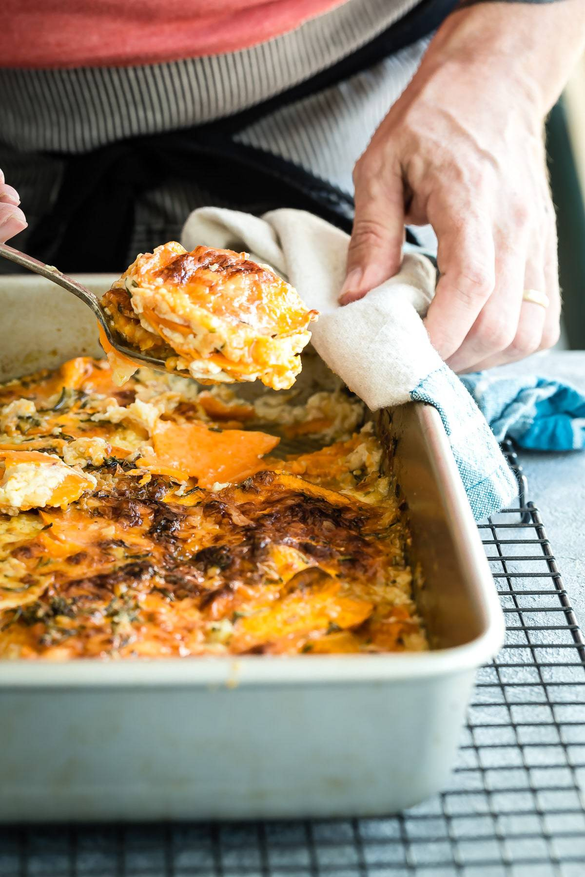 Creamy sweet potato dauphinoise