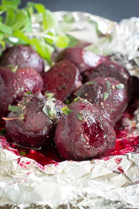 Easy baked beets for a healthy side or salad