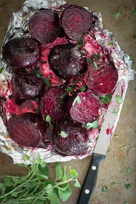 Baked Beets with Butter and Oregano