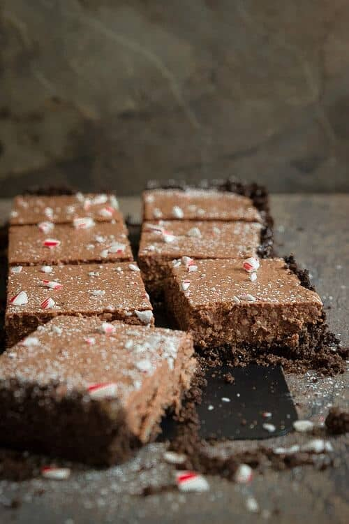 Chocolate Peppermint Pie Bars
