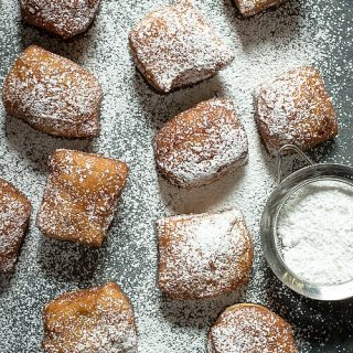 Light and fluffy beignets with a pumpkin spice taste