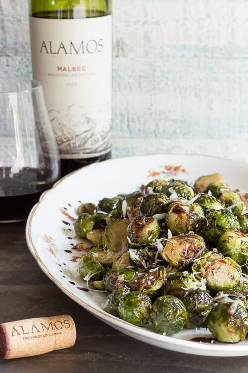 Roasted brussels sprouts with parmesan and pancetta