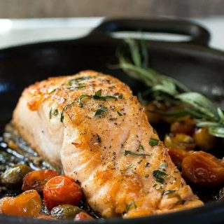 Cast Iron Skillet Seared Salmon
