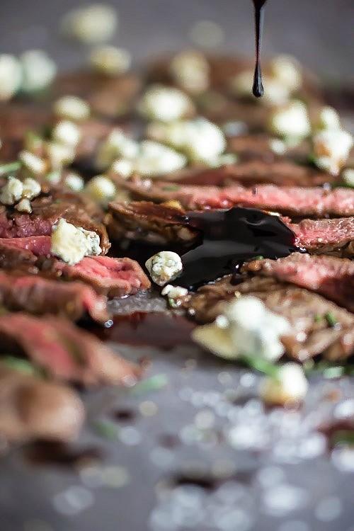 Seared Steak with Blackberry Balsamic