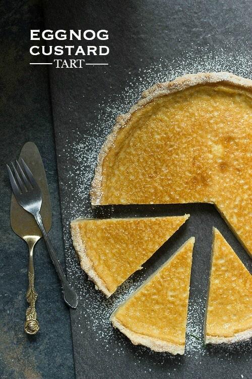 Eggnog Custard Tart