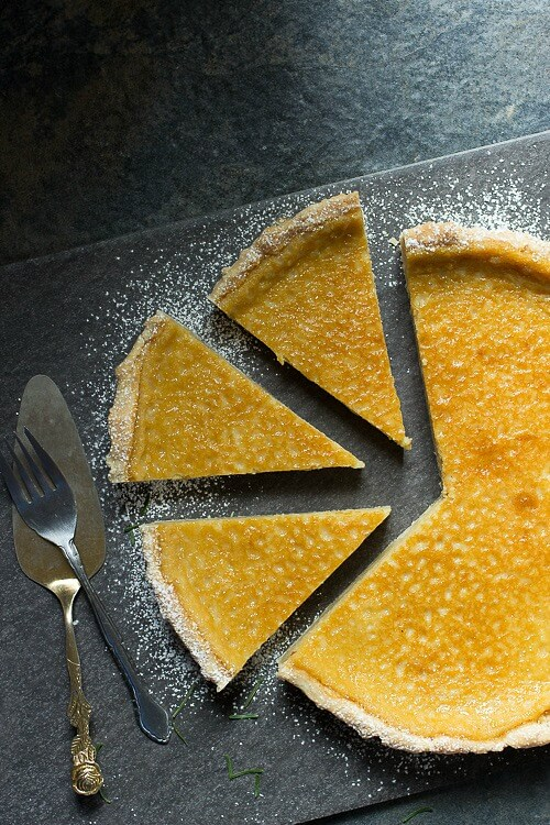 Rich and creamy eggnog tart, perfect for the holidays