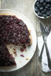 Blueberry and lemon upside down dessert cake