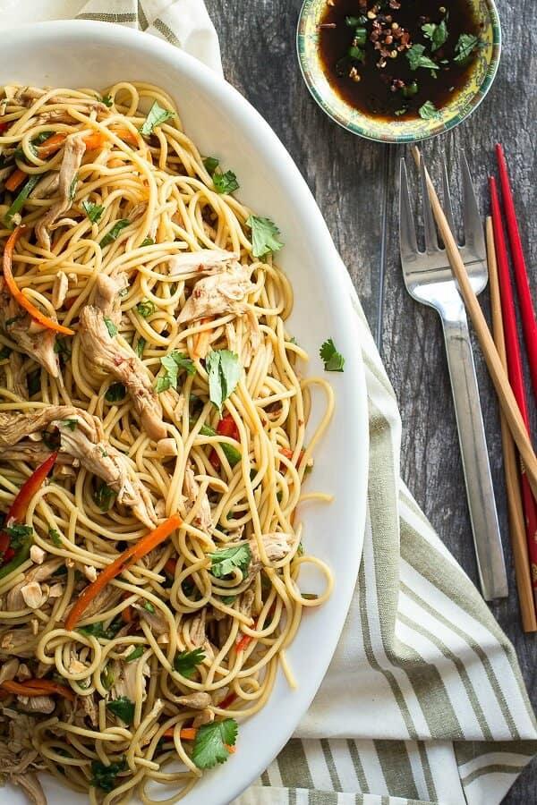 Asian style spaghetti