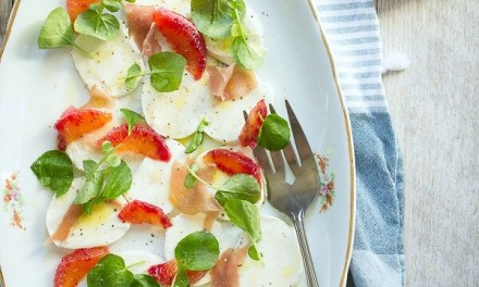 Blood Orange Salad with Mozzarella and Prosciutto