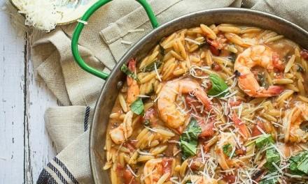 Easy One Pot Shrimp Orzo Pasta