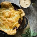Chunks of soft beef in a thick rich gravy. make this an awesome steak and ale pie