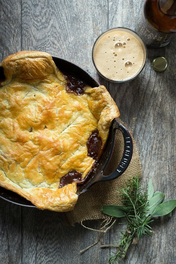 Rich Steak and Ale Pie with Puff Pastry