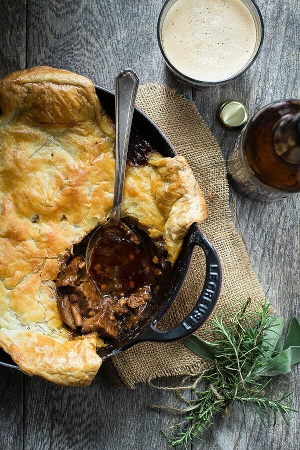 Delicious steak ale pie
