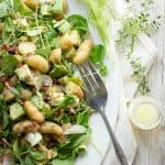 Easy avocado and potato salad with watercress and a lemon dressing