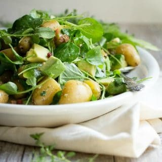 Avocado and potato salad. perfect for a summer cookout.