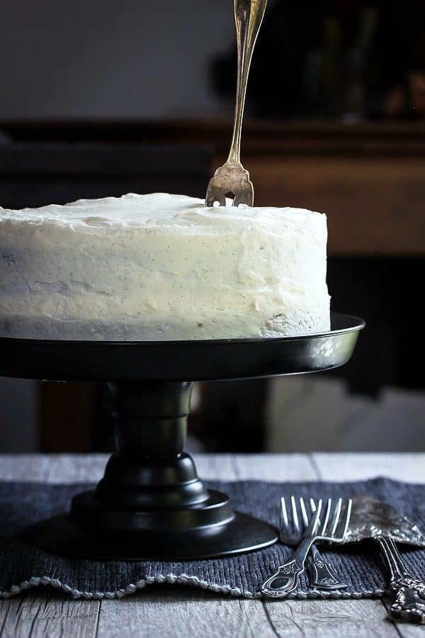 Moist and delicious carrot cake with cream cheese frosting