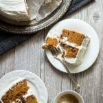 Easy carrot cake with a light and fluffy cream cheese frosting