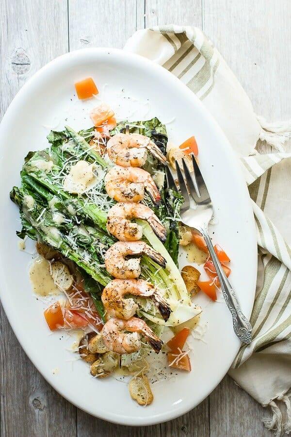 Grilled Caesar Shrimp Salad