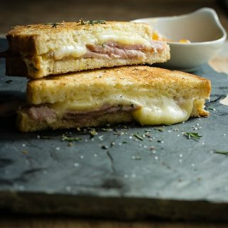 Ham Grilled Cheese with Pineapple Jelly