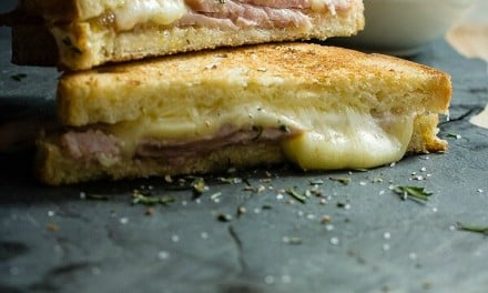 Grilled Cheese Ham Sandwich with Pineapple Jelly