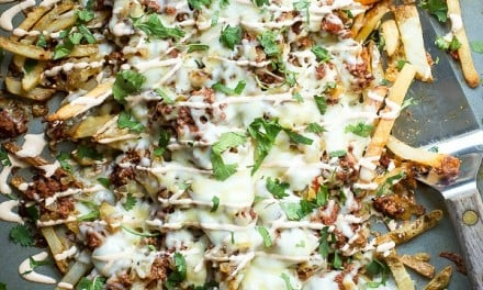 Chorizo French Fry Nachos