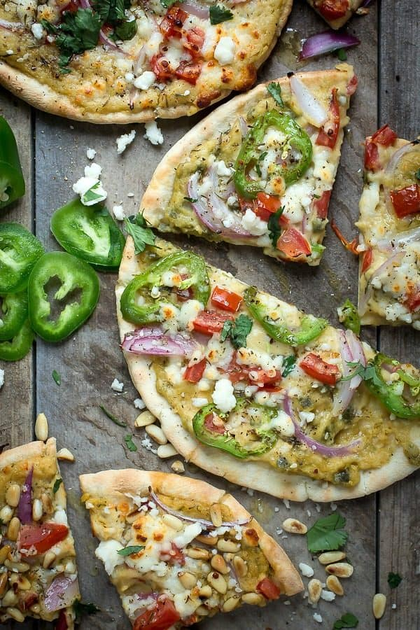 Hummus flat bread is perfect for picnics and quick dinners