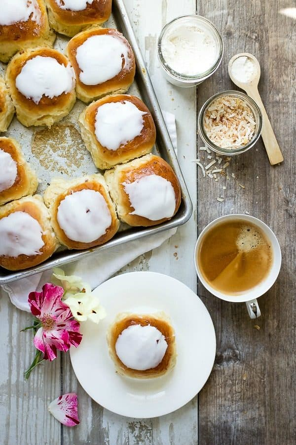 Make these iced coconut buns for Mom on Mother's Day