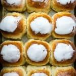 Fresh made sweet coconut buns