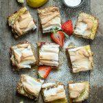 Strawberry Lemon Meringue Bars