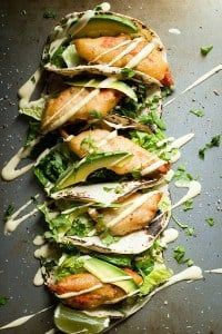 Fresh Copper River Salmon fish tacos