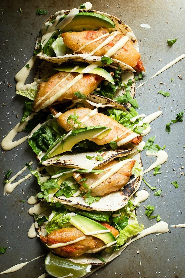 Fresh Copper River Salmon fish tacos