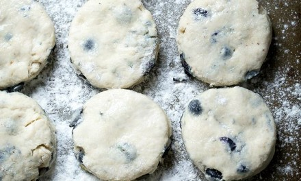 Blueberry Rosemary Buttermilk Biscuits