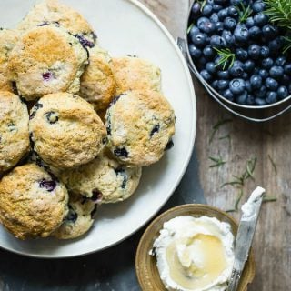 Easy light blueberry buttermilk biscuits