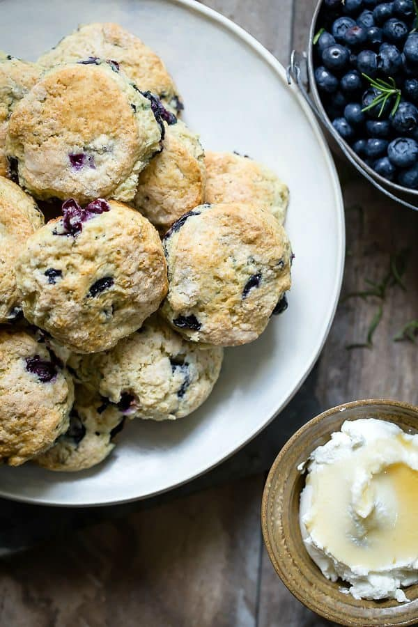 Buttermilk biscuits packed with fresh blueberries