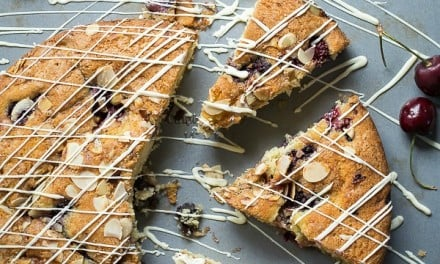 Cherry and Blackberry Coffee Cake