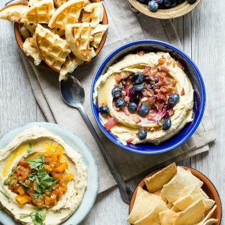 Creamy hummus served two ways