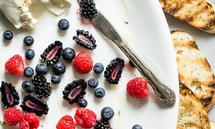 Burrata with Fresh Berries and Honey