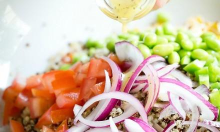 Grilled Chicken and Peach Quinoa Salad