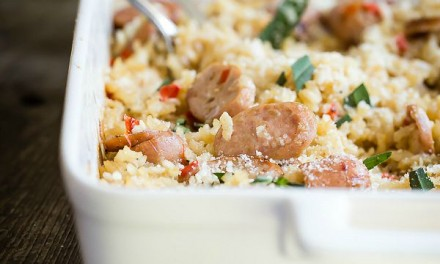 Baked Risotto with Sausage and Tarragon