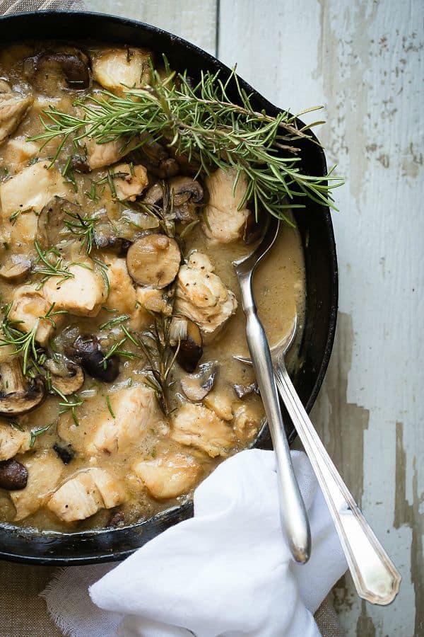 Chicken and Mushroom Skillet Dinner