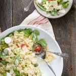 Easy tomato and mozzarella pasta salad