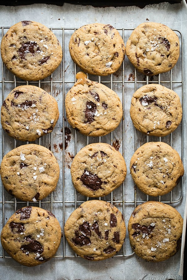 Salted Caramel Chocolate Chunk Cookies - Foodness Gracious