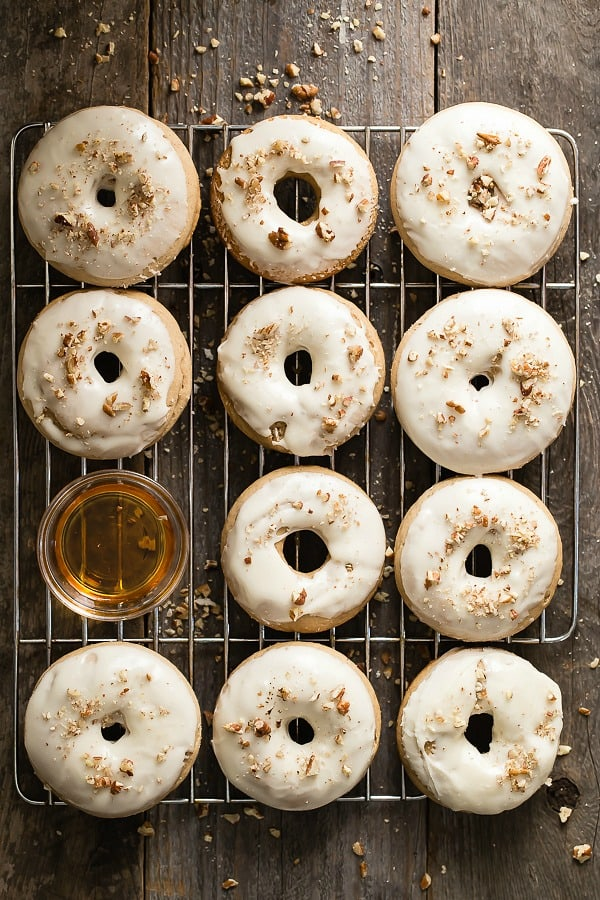 Maple Pecan Baked Donuts