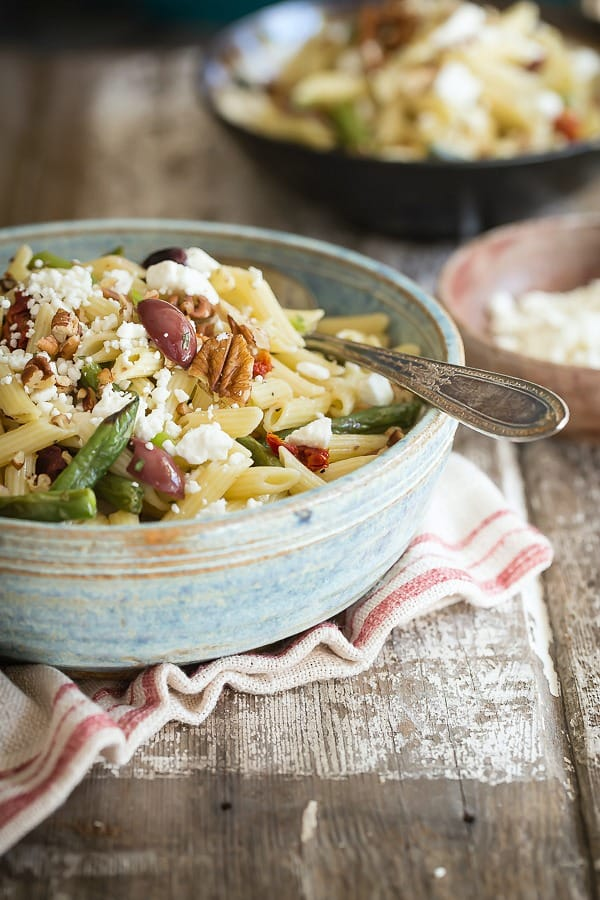 Easy pasta salad with Dijon and tarragon dressing