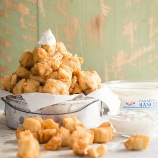 Easy popcorn chicken with Sabra Greek Yogurt Dip