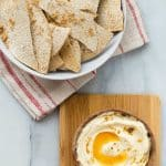 Pumpkin spiced cream cheese dip served with Flatout crackers.