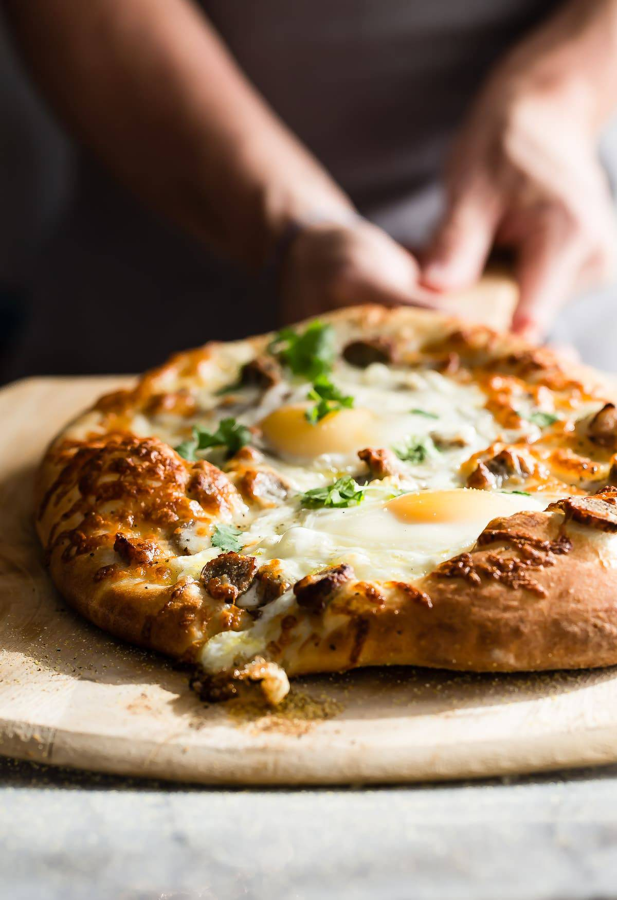 Sausage and Egg Breakfast Pizza