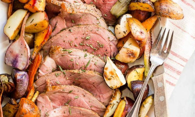 Roast Leg of Lamb with Roasted Root Vegetables